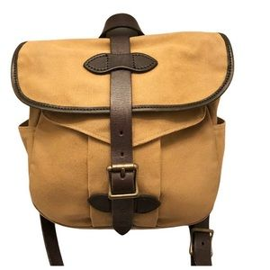 Filson canvas and leather field messenger bag